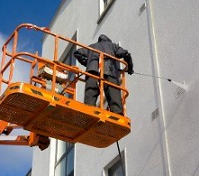 Pressure Washing Building - Pressure Washing